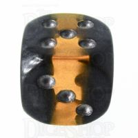 TDSO Mineral Amber 16mm D6 Spot Dice