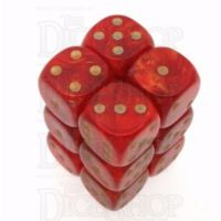 CLEARANCE Red Goldmist 12 x D6 Dice