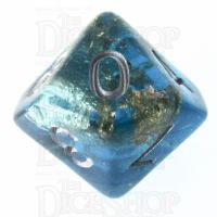 TDSO Confetti Teal & Gold D10 Dice