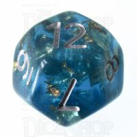 TDSO Confetti Teal & Gold D12 Dice