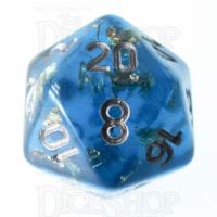 TDSO Confetti Teal & Gold D20 Dice