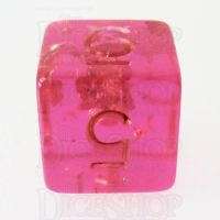 TDSO Confetti Hot Pink & Gold D6 Dice