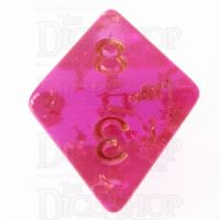 TDSO Confetti Hot Pink & Gold D8 Dice