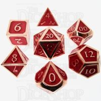 TDSO Metal Script Copper & Red 7 Dice Polyset