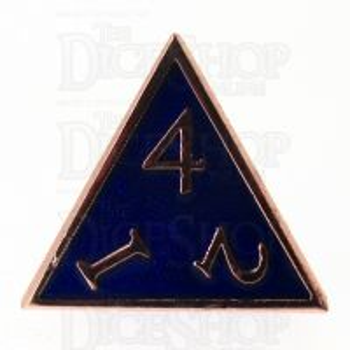 TDSO Metal Script Copper & Blue & D4 Dice