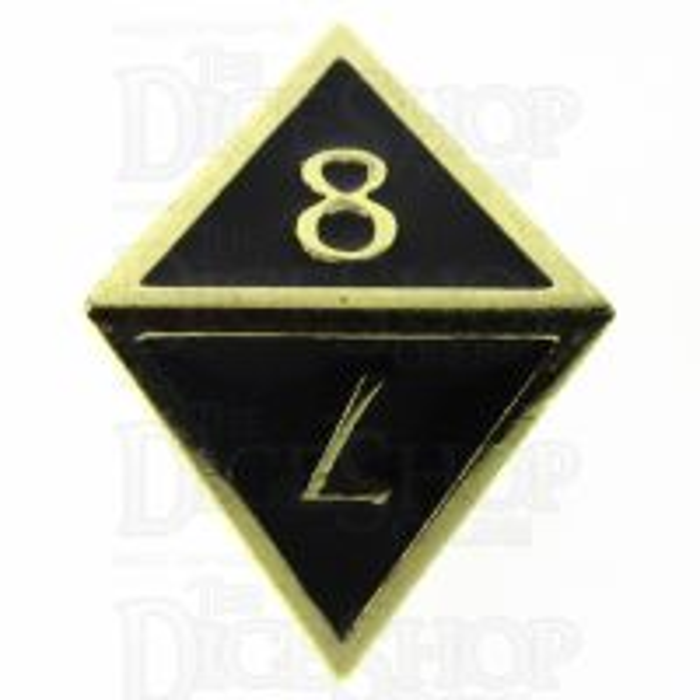 TDSO Metal Script Gold & Black D8 Dice