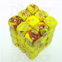 D&G Toxic Ooze Yellow & Red 36 x D6 Dice Set