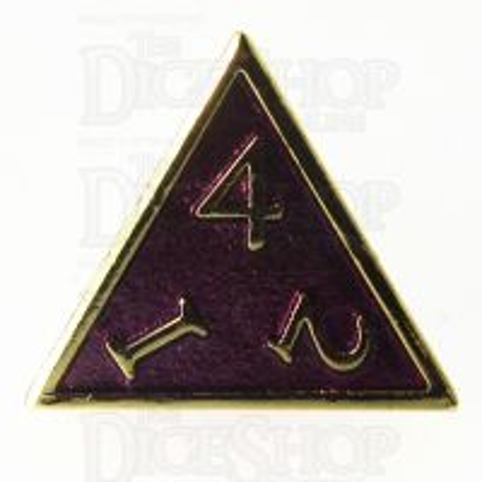 TDSO Metal Script Gold & Purple D4 Dice