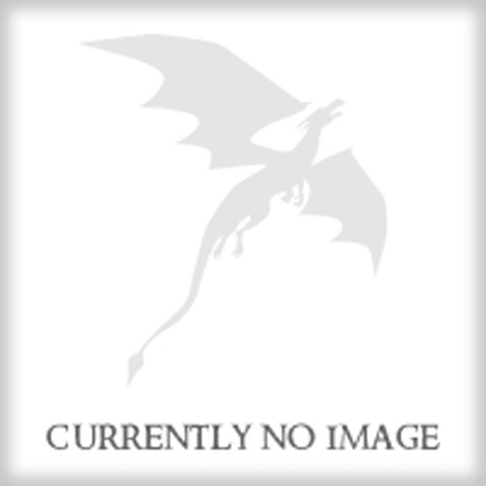 TDSO Metal Script Silver & Orange D10 Dice