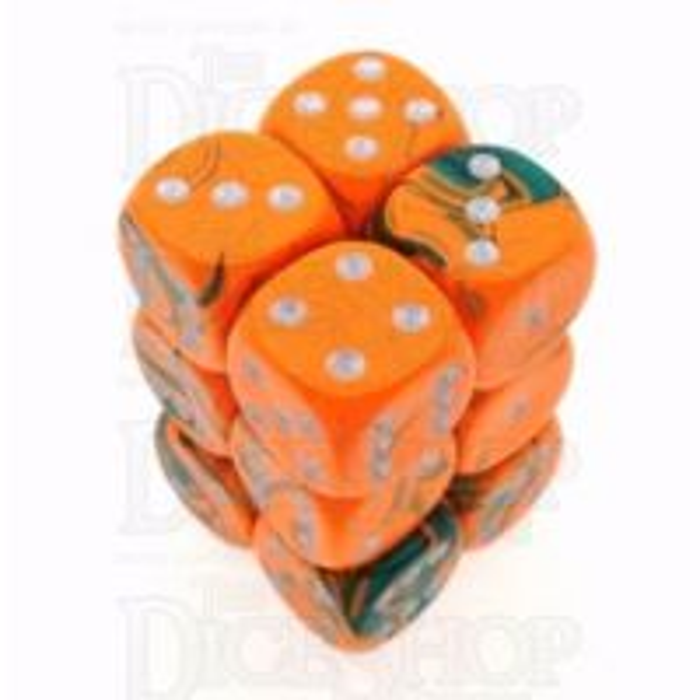 D&G Toxic Chemical Orange & Green 12 x D6 Dice Set