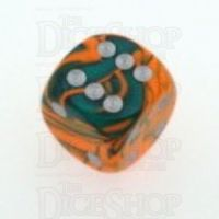 D&G Toxic Chemical Orange & Green 15mm D6 Spot Dice