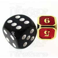 TDSO Metal Fire Forge Gold & Red MINI 12mm D6 Dice