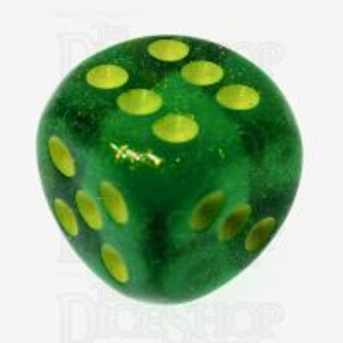 Chessex Borealis Maple Green & Yellow 16mm Spot Dice