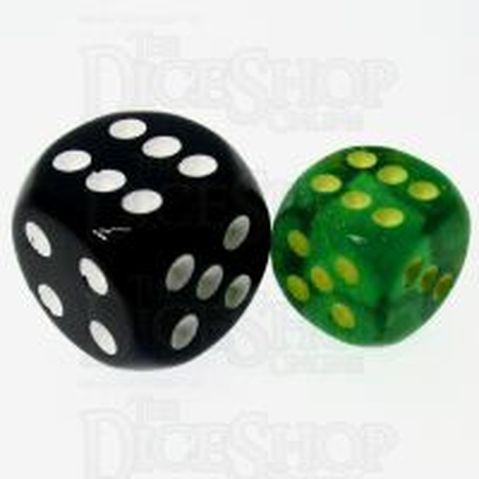 Chessex Borealis Maple Green & Yellow 12mm Spot Dice