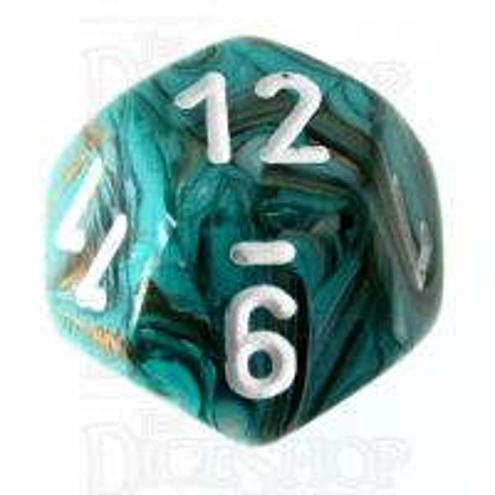 Chessex Marble Oxi-Copper D12 Dice