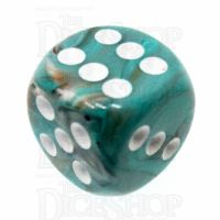 Chessex Marble Oxi-Copper 16mm D6 Spot Dice