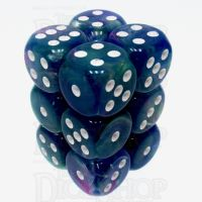 Chessex Festive Waterlily 12 x D6 Dice Set