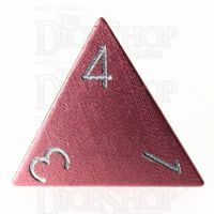 TDSO Aluminium Precision Pink Dragon D4 Dice