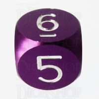 TDSO Aluminium Precision Purple Dragon D6 Dice