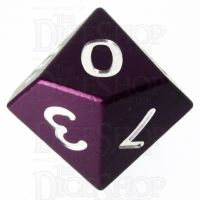 TDSO Aluminium Precision Purple Dragon D10 Dice