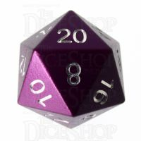 TDSO Aluminium Precision Purple Dragon D20 Dice