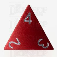 TDSO Aluminium Precision Red Dragon D4 Dice