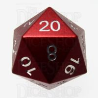 TDSO Aluminium Precision Red Dragon D20 Dice