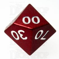 TDSO Aluminium Precision Red Dragon Percentile Dice