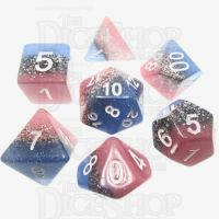 TDSO Blue Star Streak 7 Dice Polyset LIMITED EDITION