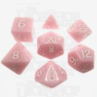 TDSO Opaque Baby Pink 7 Dice Polyset