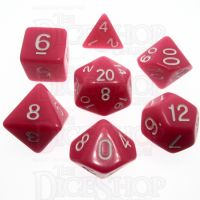 TDSO Opaque Pink 7 Dice Polyset