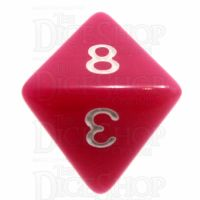 TDSO Opaque Pink D8 Dice