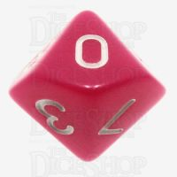 TDSO Opaque Pink D10 Dice
