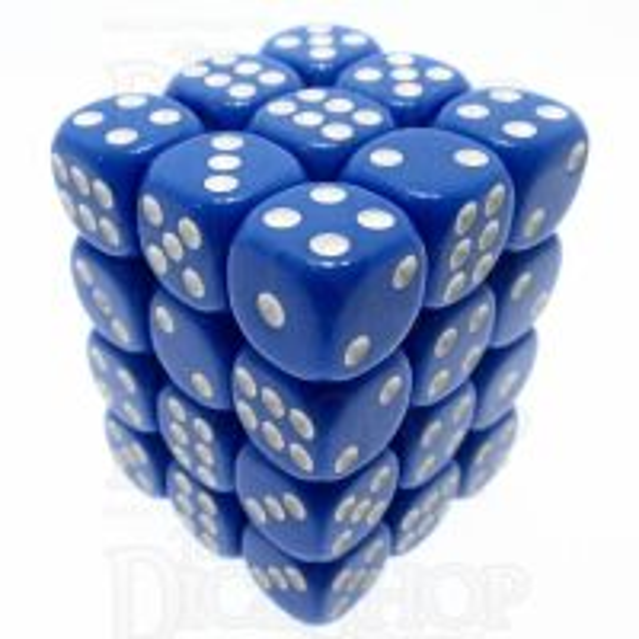 TDSO Opaque Blue 36 x D6 Dice Set