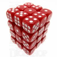 TDSO Opaque Red 36 x D6 Dice Set
