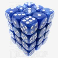 TDSO Pearl Blue & White 36 x D6 Dice Set