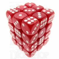TDSO Pearl Red & White 36 x D6 Dice Set