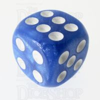 TDSO Pearl Blue & White 16mm D6 Spot Dice