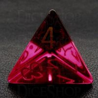 TDSO Zircon Glass Ruby with Engraved Numbers 16mm Precious Gem D4 Dice