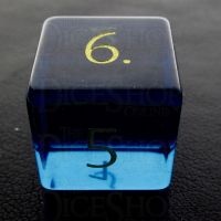 TDSO Zircon Glass Sapphire with Engraved Numbers 16mm Precious Gem D6 Dice