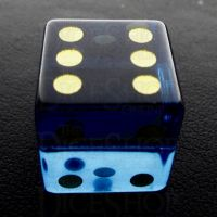 TDSO Zircon Glass Sapphire with Engraved Numbers 16mm Precious Gem D6 Spot Dice