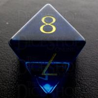 TDSO Zircon Glass Sapphire with Engraved Numbers 16mm Precious Gem D8 Dice