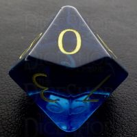 TDSO Zircon Glass Sapphire with Engraved Numbers 16mm Precious Gem D10 Dice