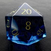 TDSO Zircon Glass Sapphire with Engraved Numbers 16mm Precious Gem D20 Dice