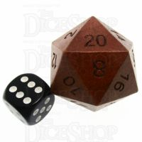 TDSO Red Sandalwood Wooden JUMBO 34mm D20 Dice