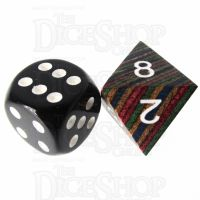 TDSO Technical Wooden D8 Dice - Large Inked