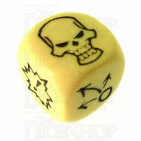 CLEARANCE D&G Opaque Yellow Block D6 Dice SECONDS