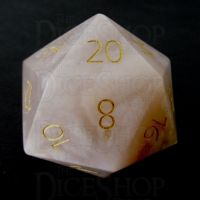TDSO Agate Cherry with Engraved Numbers 16mm Precious Gem D20 Dice
