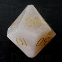 TDSO Agate Cherry with Engraved Numbers 16mm Precious Gem Percentile Dice