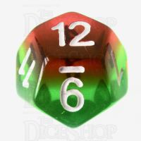 TDSO Layer Transparent Green Yellow & Red D12 Dice